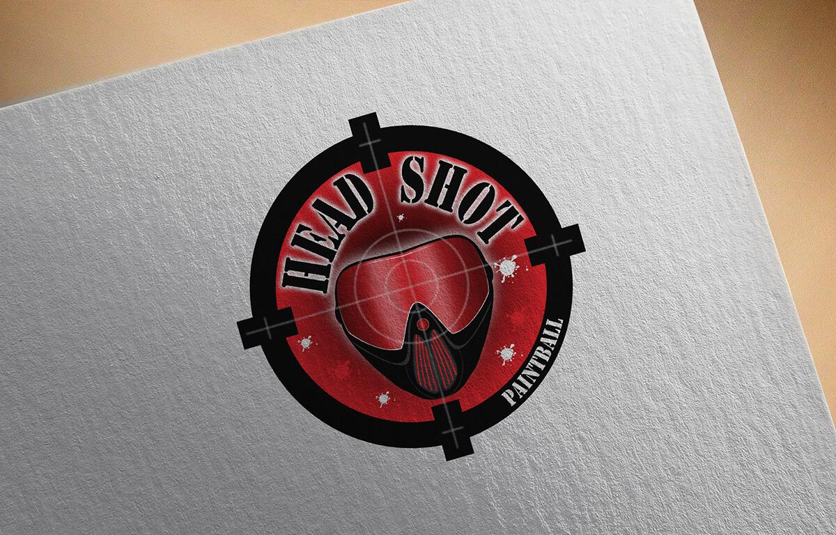 Head Shot Paintball - Logo | Luis Serra Freelancer