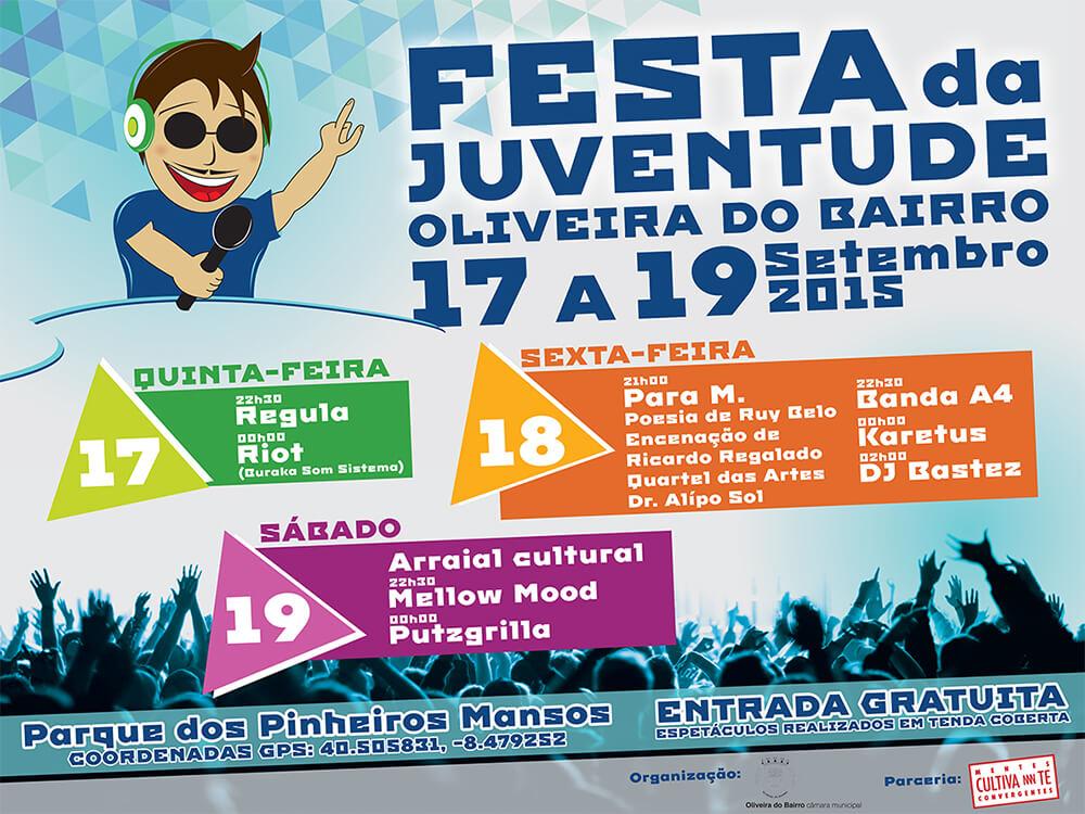Festa da Juventude de Oliveira do Bairro - Outdoor 4 x 3 meters | Luis Serra Freelancer