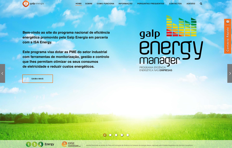 Galp Energy Manager - Homepage | Luis Serra Freelancer
