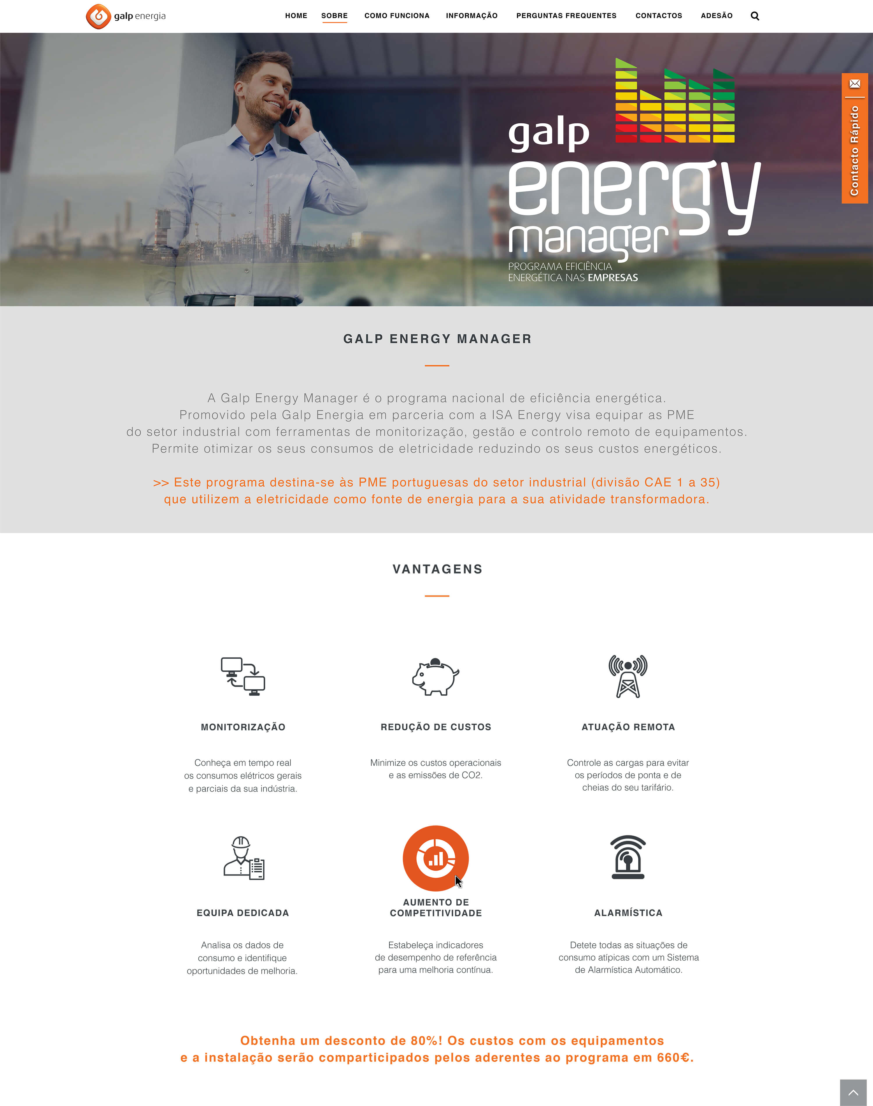 Galp Energy Manager - Inner Page | Luis Serra Freelancer