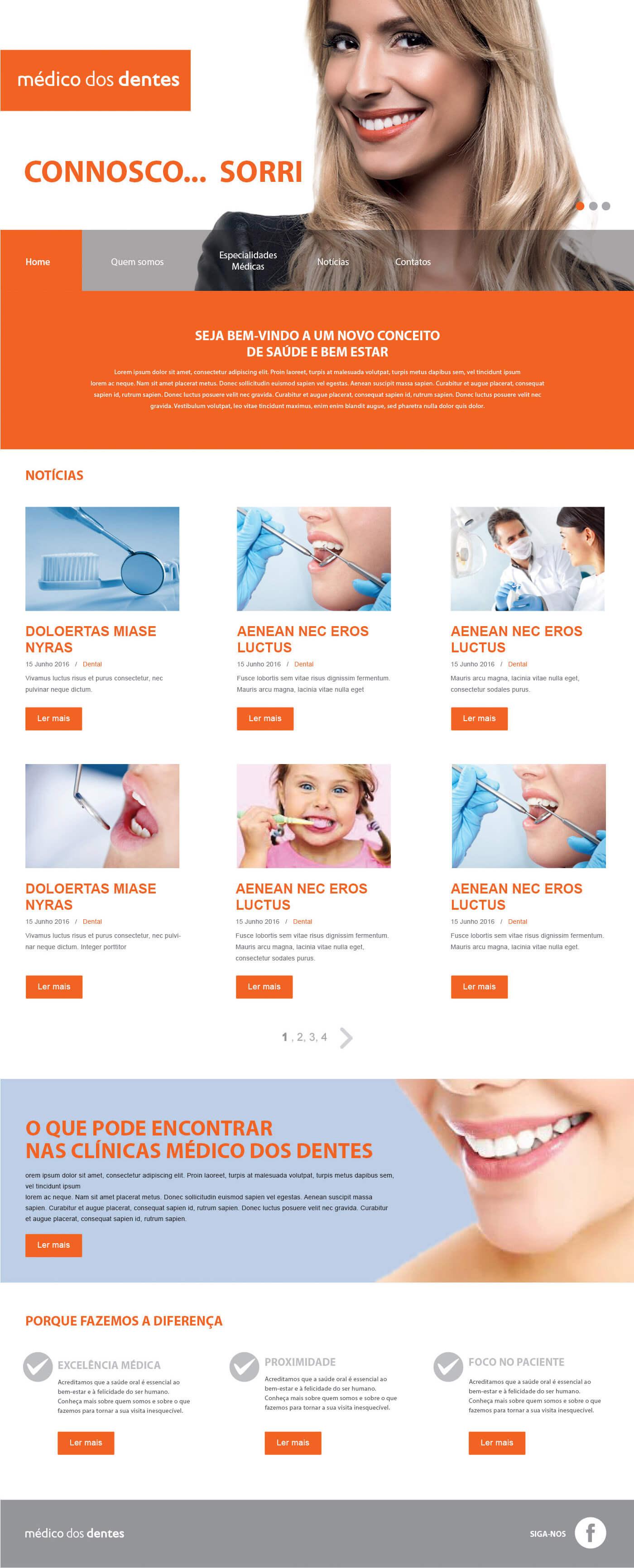Médico dos Dentes - Página Inicial | Luis Serra Freelancer