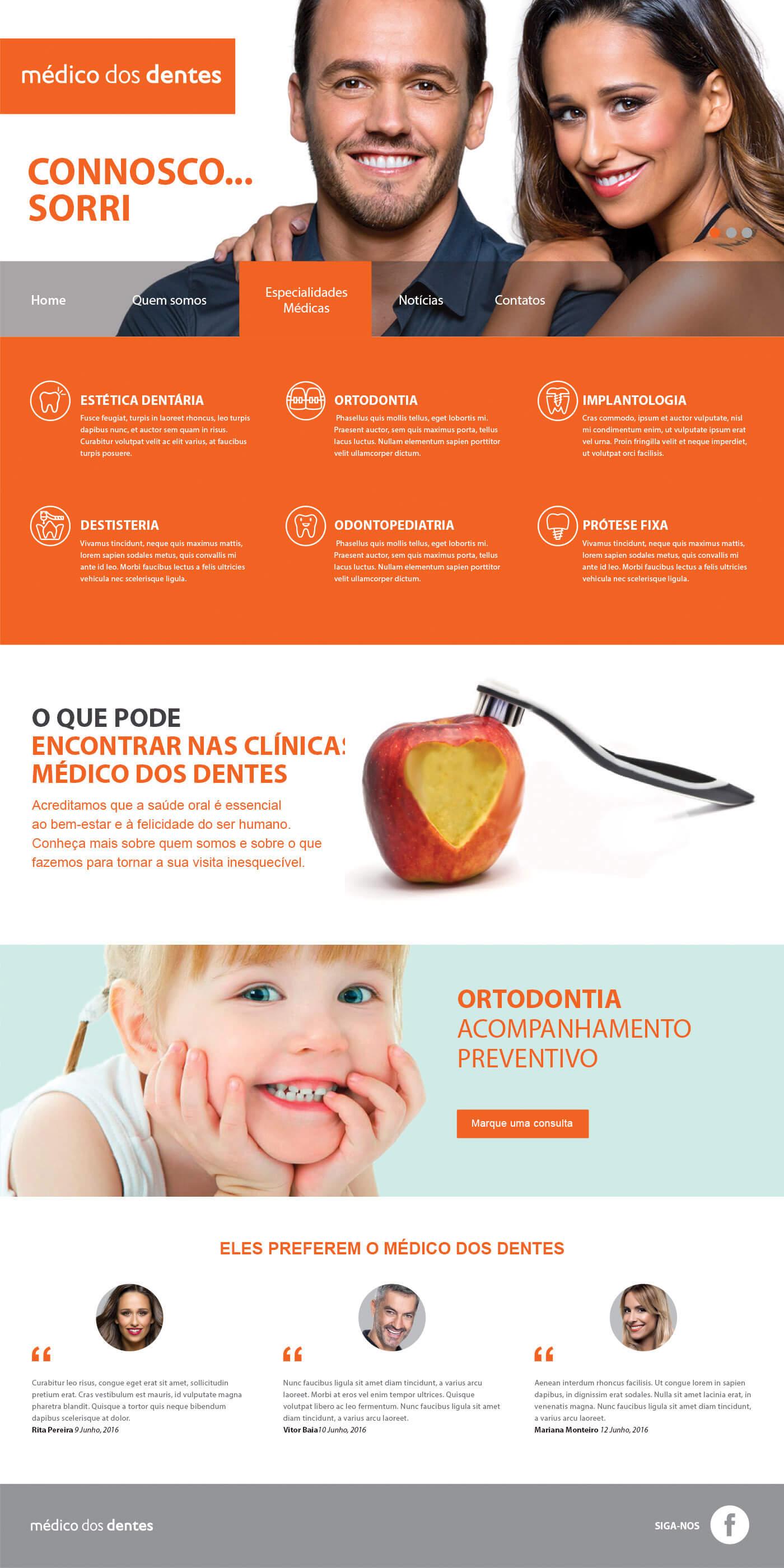Médico dos Dentes - Specialties | Luis Serra Freelancer