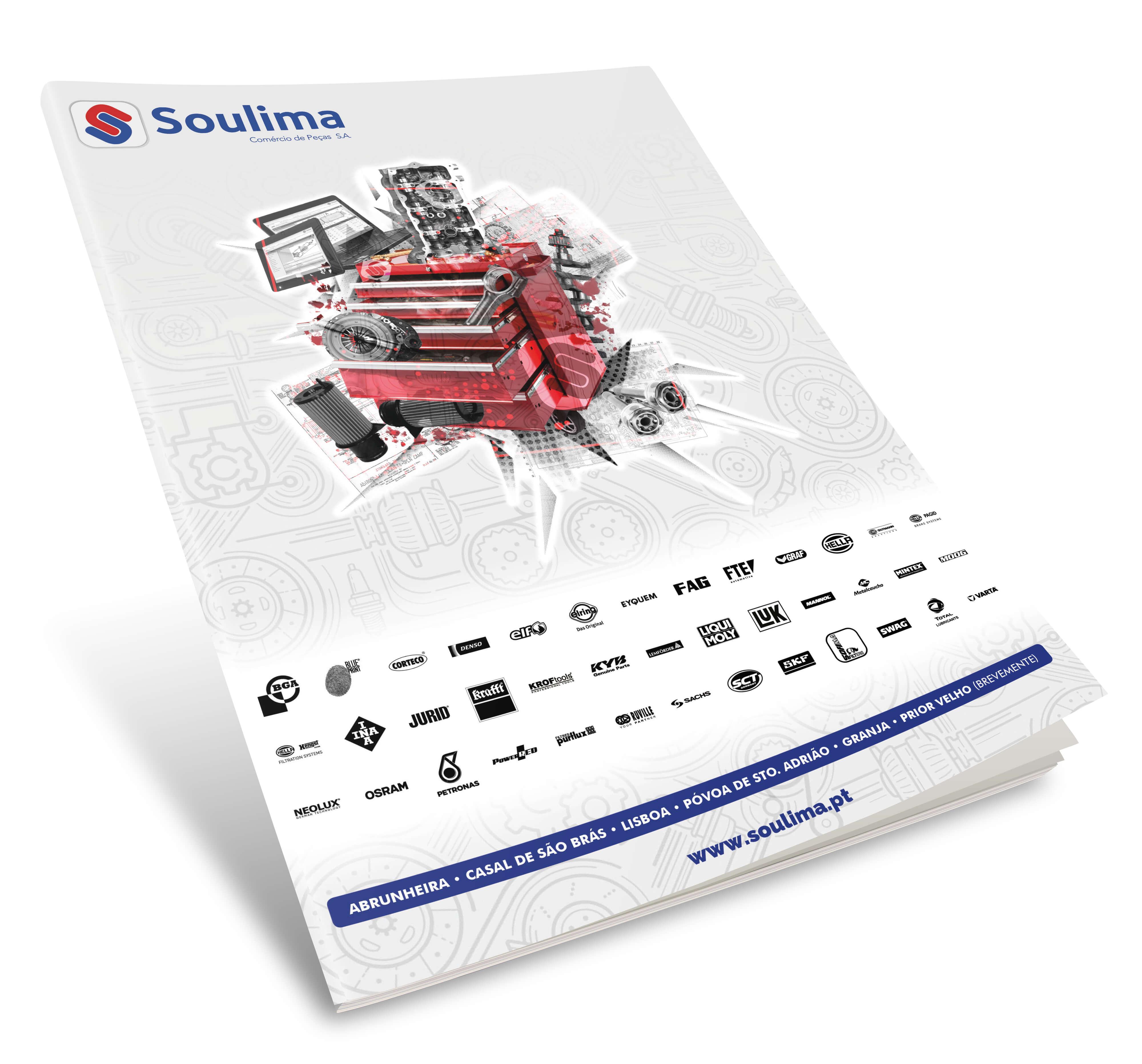 Soulima - Comércio de Peças - Mockup Brochure Soulima - Cover | Luis Serra Freelancer