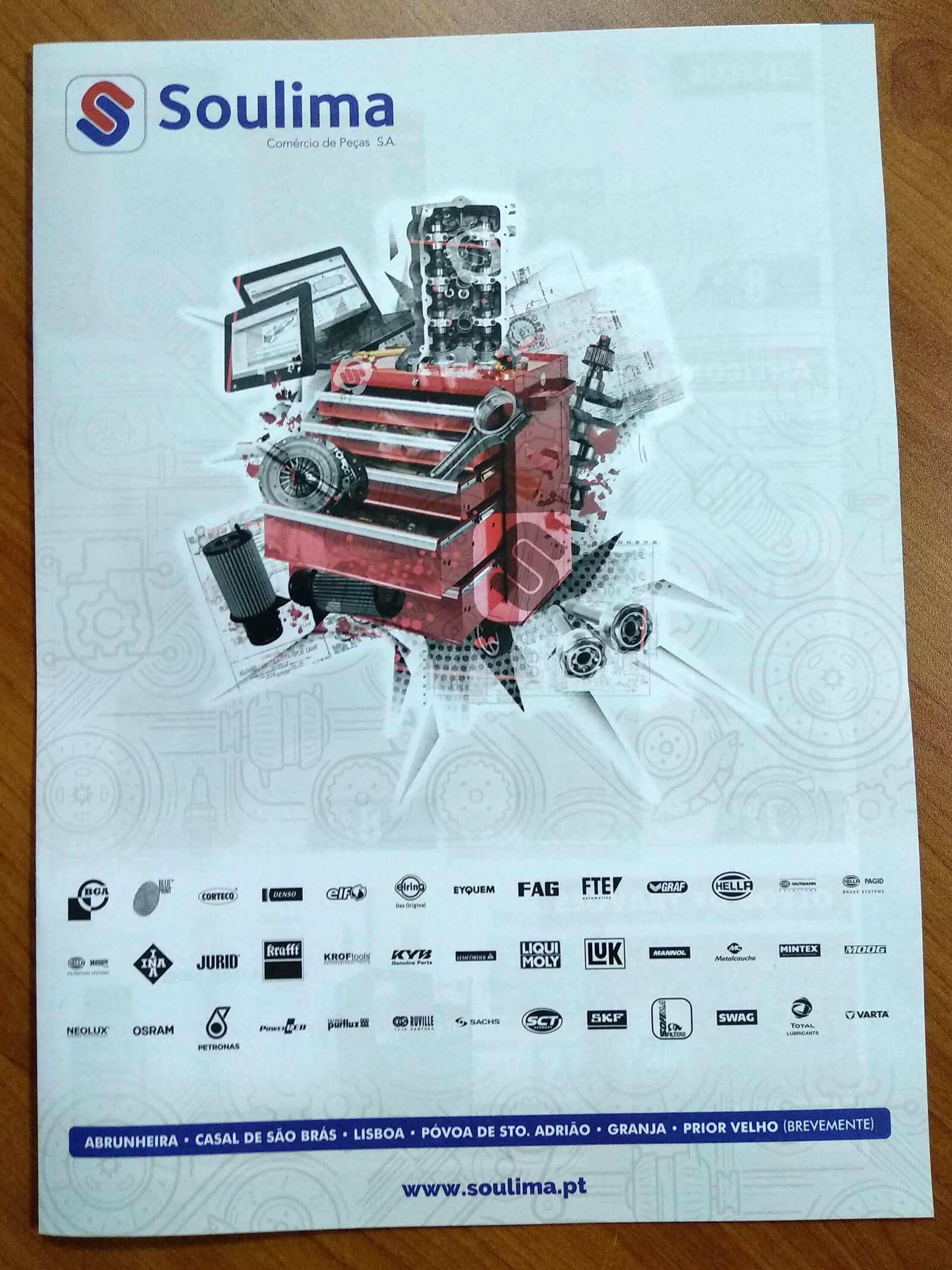 Soulima - Comércio de Peças - Printed Brochure Soulima - Cover | Luis Serra Freelancer