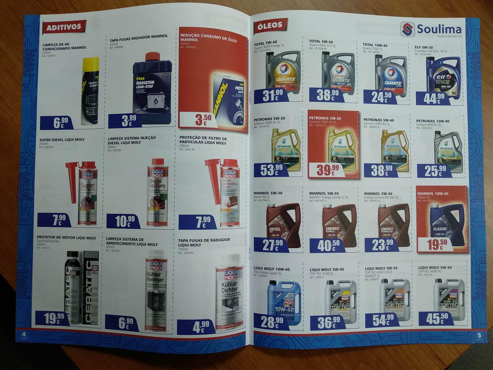Soulima - Comércio de Peças - Printed Brochure Soulima - Interior | Luis Serra Freelancer
