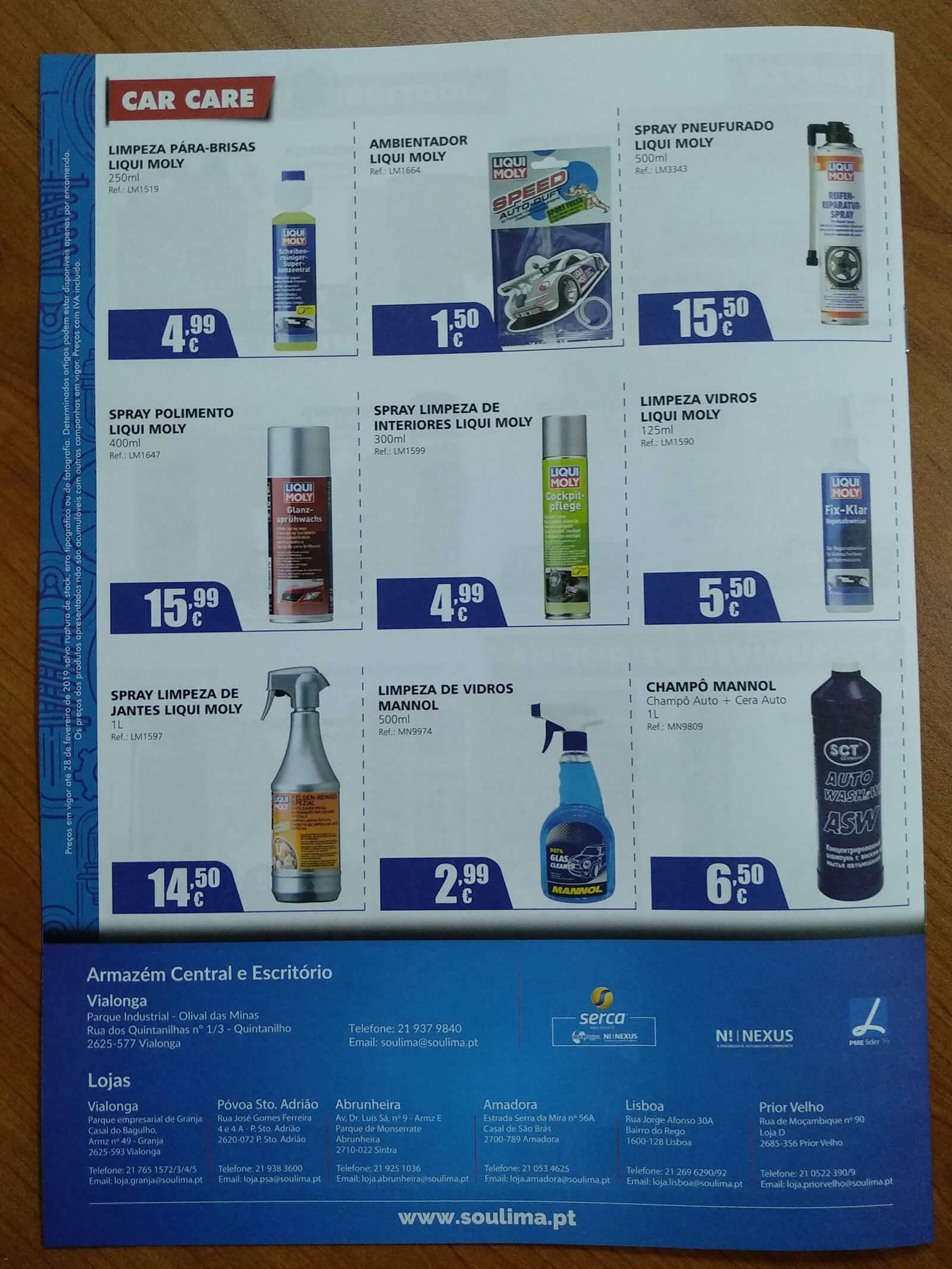 Soulima - Comércio de Peças - Printed Brochure Soulima - Back Cover | Luis Serra Freelancer