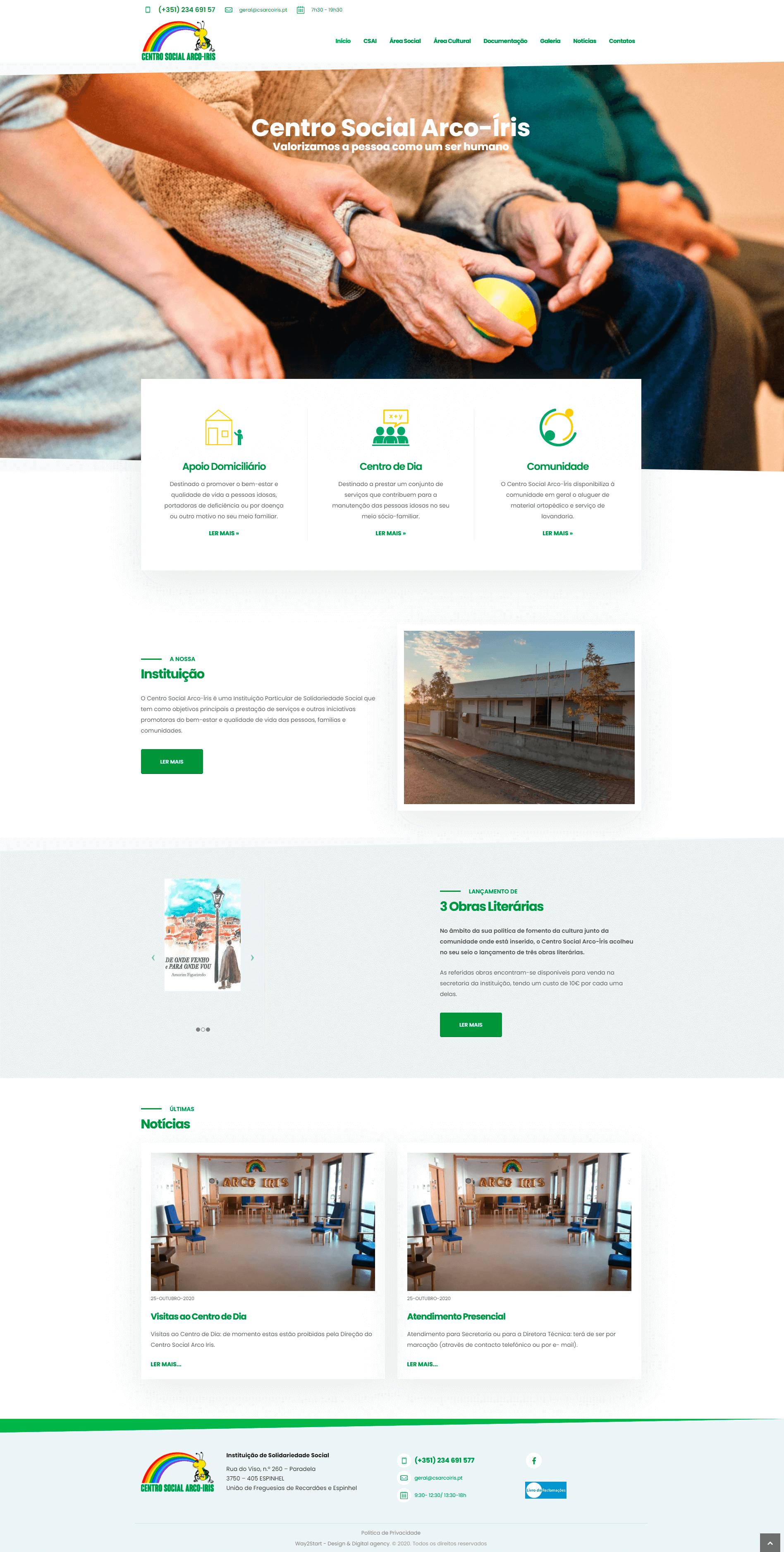 Centro Social Arco-Iris - Página Inicial | Luis Serra Freelancer